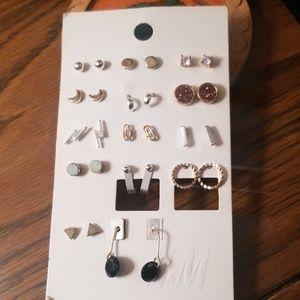 Buy 2 Get 1 Free H&M Gold & Silver Stud Earrings